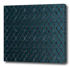 Teal Mermaid Scales Glam #1 #shiny #decor #art