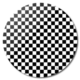 Black and White Checkerboard Pattern