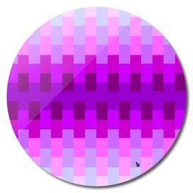 Geometric cubes pink purple blue