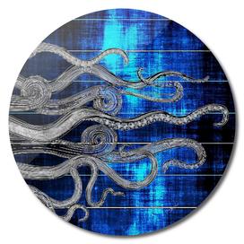 Deep Sea Blue Ink Octopus Tentacles