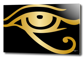 Golden Egyptian Eye Of Horus