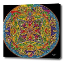Mandala Circle Ying Yang