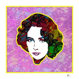 Elizabeth Taylor | Splatter Series | Pop Art