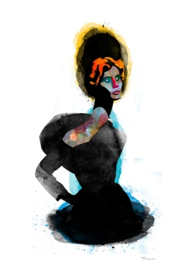 Mujer con peineta