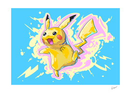 Pikachu. Pokemon comic art.