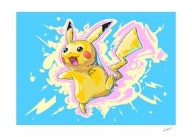 Pikachu. Pokemon comic art.