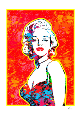 Marilyn Monroe | Splatter Series | Pop Art