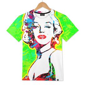 Marilyn Monroe | Splatter Series | Pop Art | Green
