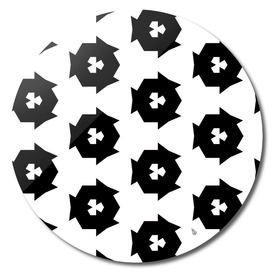 black and white abstract pattern   -