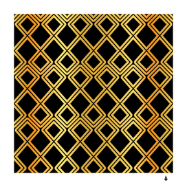 arabic pattern gold and black