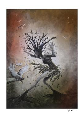The destruction of nature.
