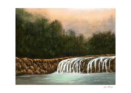 The little waterfalls