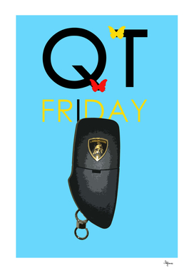 QT FRIDAY GALLARDO LAMBORGHINI BLUE POSITIVE THINKING