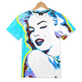 Marilyn Monroe | Splatter Series | Pop Art | Blue