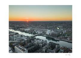 Sunset over Dublin City