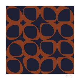 Geometric Pattern II - Navy and Rust