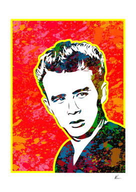 James Dean | Splatter Series | Pop Art