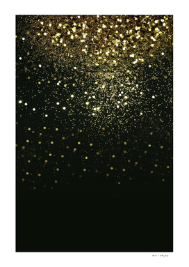 Sparkling Gold Glitter Glam #2 #shiny #decor #art