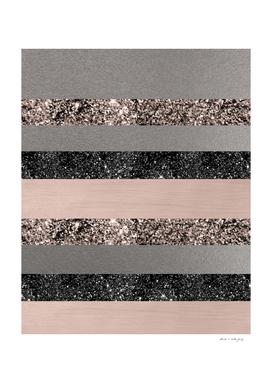 Blush Glitter Glam Stripes #1 #shiny #decor #art