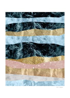 Blue Ocean Waves #1 #abstract #decor #art