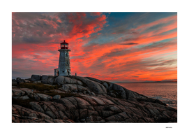 Sunset at Peggy's Point Lighthouse