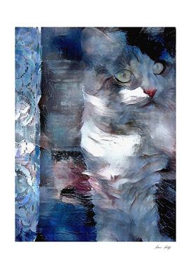 Cat in Pastel Colors