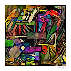 Colorful Geometric Abstract