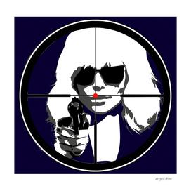 Atomic Blonde. At gun point