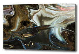 A Abstract Venture In Black and Brown