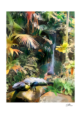 Rainforest Iguana