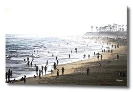 Foggy Day In Huntington Beach CA