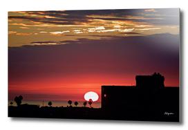 Sunset Over Cliff Drive, Newport Beach CA