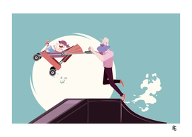 STAY AT HOME DAD - Baby Stroller jumping on ramp