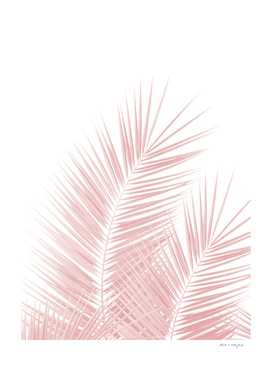 Blush Pink Palm Leaves Dream - Cali Summer Vibes #1
