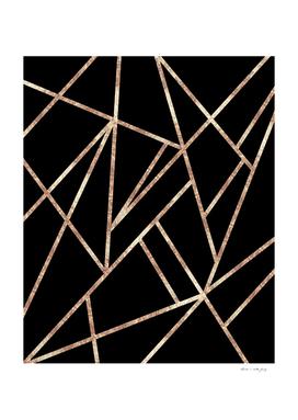 Classic Black Rose Gold Geo #1 #geometric #decor #art