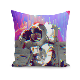 Rainbow Galaxy Astronaut