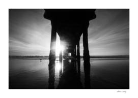 Manhattan Beach Pier in Black and White