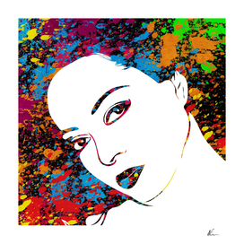Diana Ross | Splatter Series | Pop Art