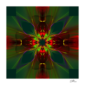 Kaleidoscope Red Green