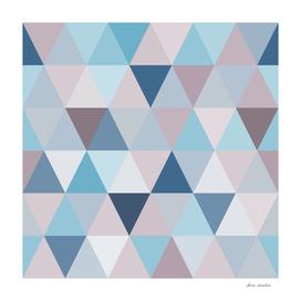 Mauve Blue Triangles