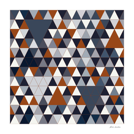 Navy Rust Triangles III