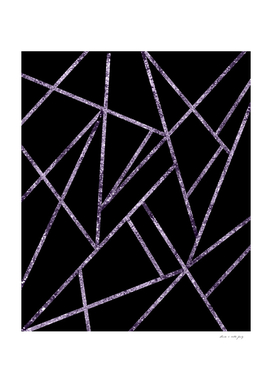 Classic Ultra Violet Glitter Geo #1 #geometric #decor #art