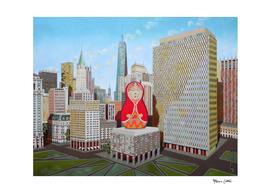 Civic Center in New York with Matrioska