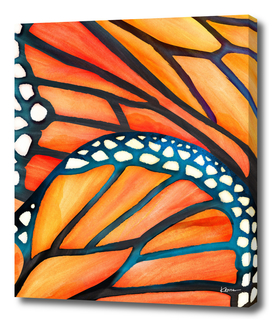 Monarch Butterfly Wings Watercolor Abstract