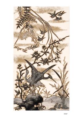 Flight Of Birds Pencil Sketch 1