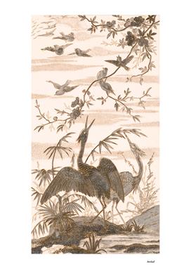 Flight Of Birds Pencil Sketch 2