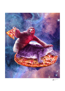 Trippy Space Sloth Turtle - Sloth Pizza