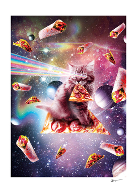 Outer Space Pizza Cat - Rainbow Laser, Taco, Burrito