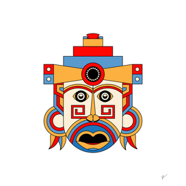geometric tribe mask