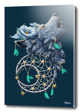 Dreamcatcher Moon Wolf